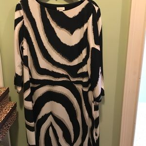 Chico's zebra print dress 👗 with cold sleeves